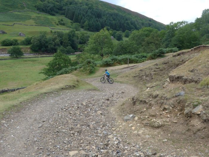 Gravel Berm on Swale Trail near Keld
