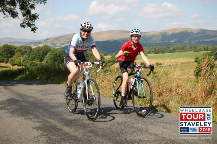 Riding the Tour de Staveley - smiling