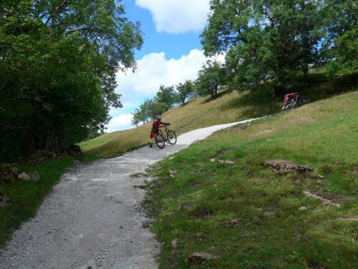 Steep climb out of Keld