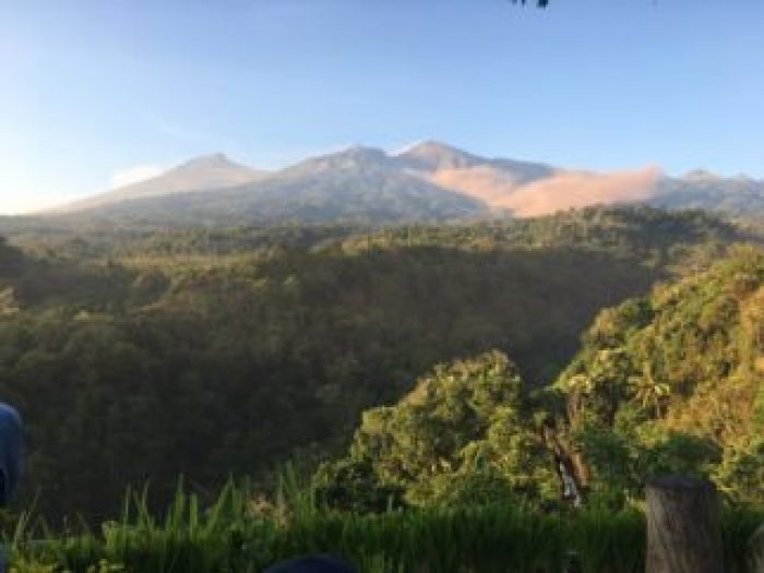 View of Rinjani where people remain stuck awaiting rescue after the Lombok earthquake