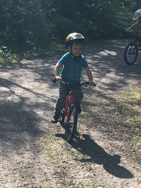 Cycling with kids at Shorne Wood Country Park