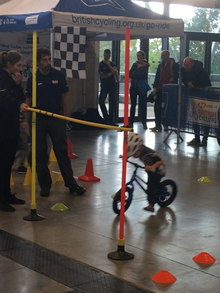 Balance Bike Skills at the Cycle Expo Yorkshire 2018 - one of the many kids activities