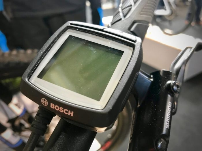 Cube Acid 240 Hybrid Youth Bosch Purion Display Unit on a kids e-bike electric mountain bike