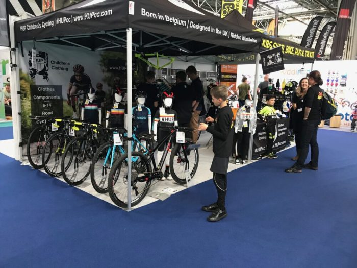 Kids racing stand at the Cycle Show Birmingham NEC