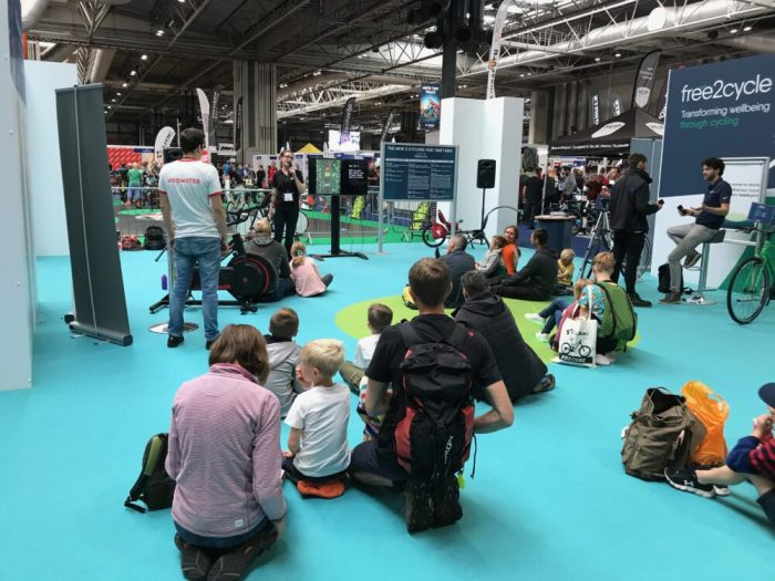 Cycle Sprog's talk about family cycling at the 2018 Cycle Show