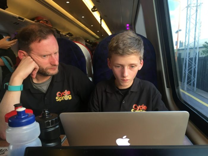 Working on my blog on the way home from the Cycle Show