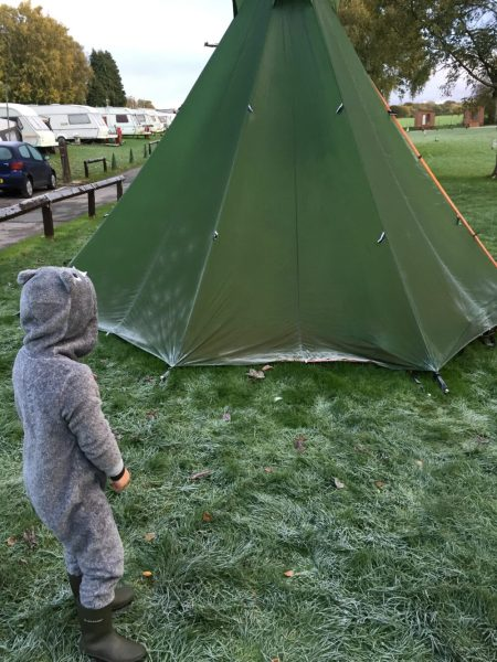 Camping near Lymm on the Trans Pennine Trail family cycling holiday
