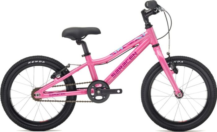 Saracen Mantra 1.6 best and cheapest pink girls 16 inch bike for 3 year old girl