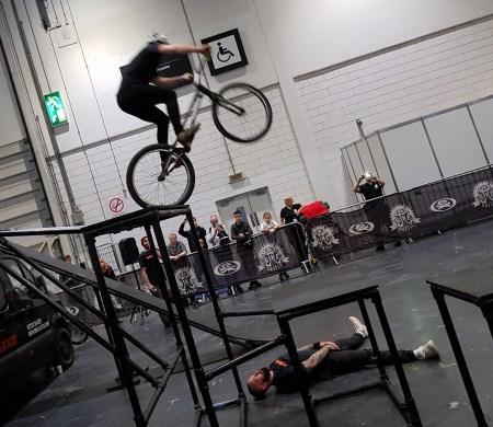 Bike stunts at the London Bike Show