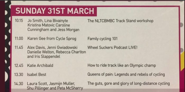 Karen Gee from Cycle Sprog speaking at the London Bike Show about family cycling
