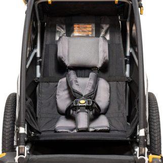Burley D'Lite - inside the single seat D'Lite trailer
