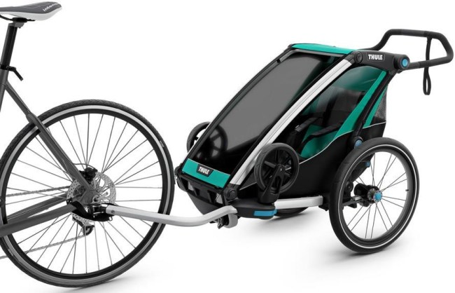 Thule Chariot Lite Single Seat child bike trailer which converts into a pushchair stroller and is suitable from birth