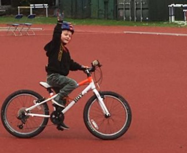 Go-Ride training session for a 4 year old