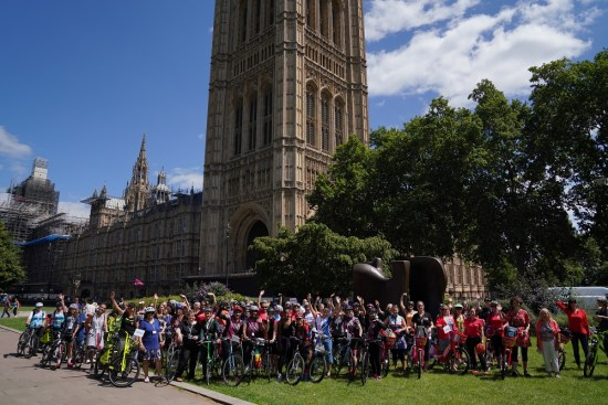 100 Women in Cycling 2019 - outside the Houses of Parliament