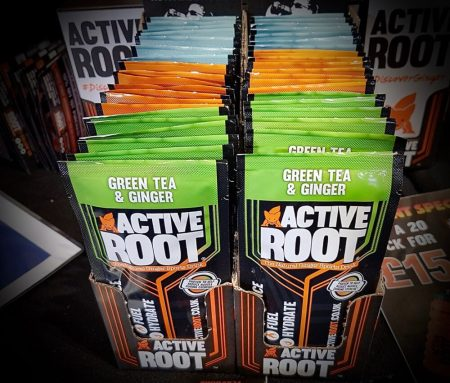 Active Root sachets at the 2019 Cycle Show - suitable for teenagers