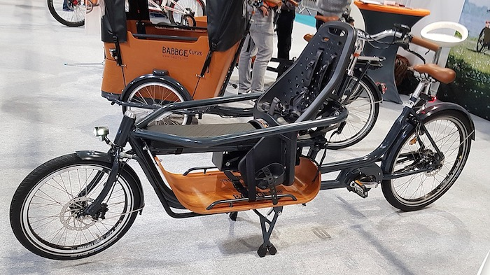 family cargo bikes at the 2019 Cycle Show - Babboe Slim