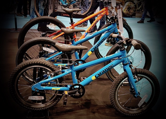Cycle Show 2019 - Orange kids bikes now in blue too!