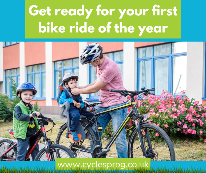 Get ready for your first bike ride of the year