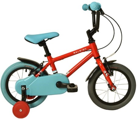 Raleigh Pop 14 kids bike with stabilisers