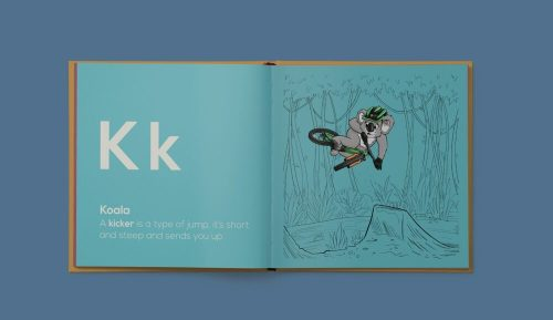Shred Til Bed Kids A to Z MTB Book Koala