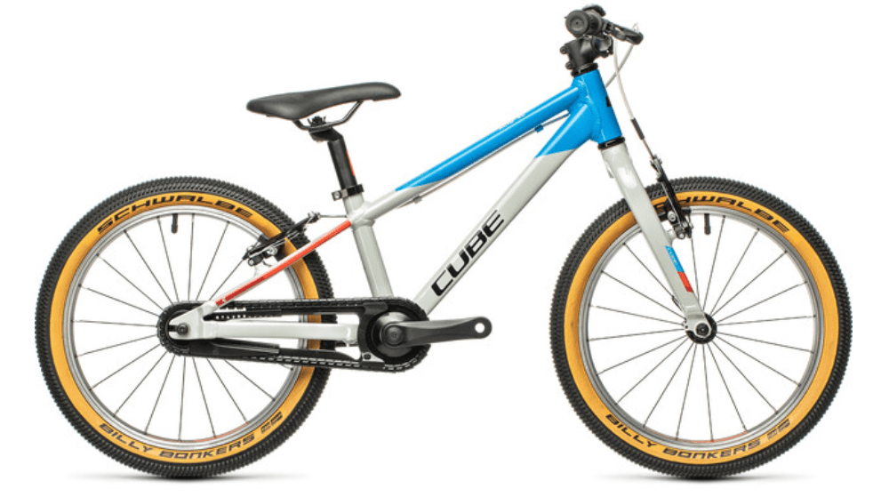 "The Cube Cubie is an 18"" wheel small kids mountain bike for children who are too small for gears and suspension bikes"