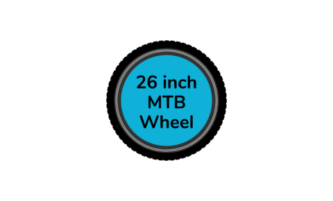 MTB bike wheel 26 inch with blue centre disc