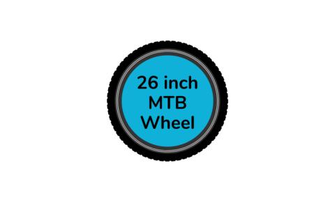 MTB bike wheel 26 inch with blue centre disc
