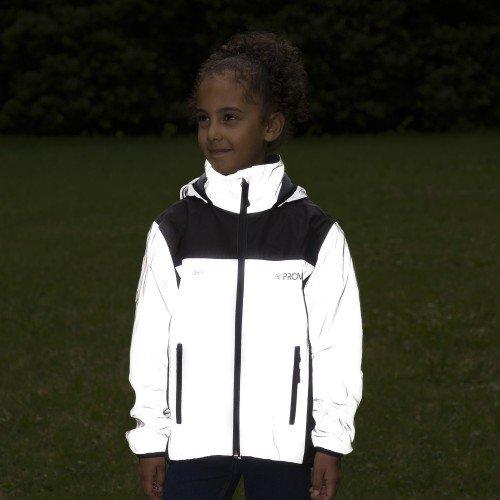 viz reflective hi viz kids cycling jacket