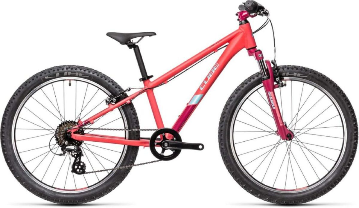Cube Acid 240 pink mountain bike for an 8 year old girl