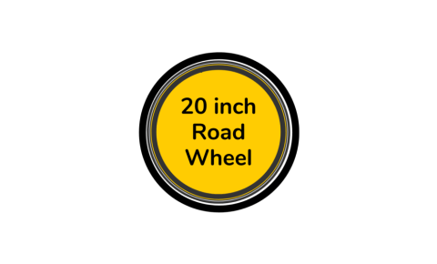 Road bike wheel 20 inch with yellow centre disc