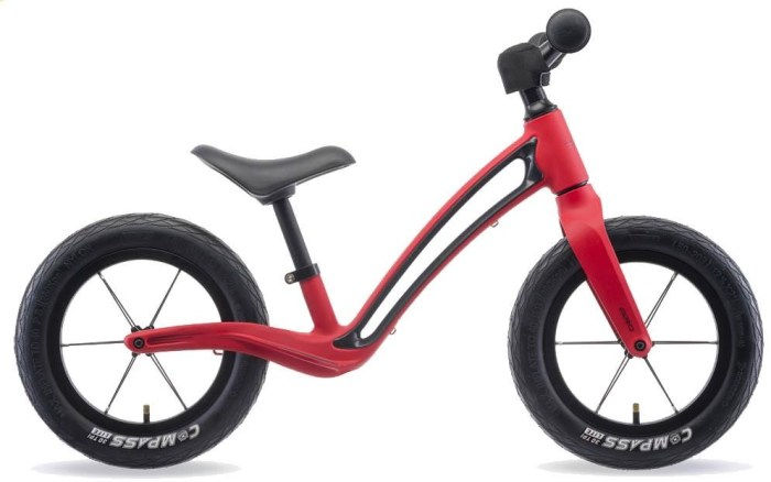 Hornit Airo is a red balance bike like Prince Louis was riding to nursery school