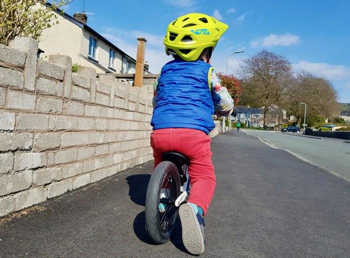Hornit AIRO balance bike in use