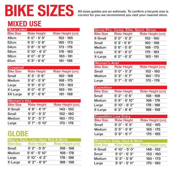 Specialized Crosstrail Frame Size Guide | Viewframes co