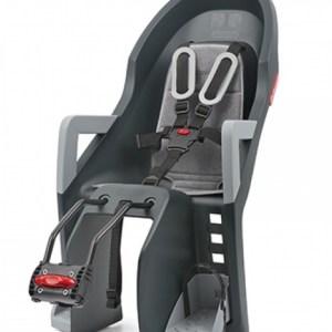 Guppy Maxi FF Kindersitz grau/silber Rahmenbefestigung
