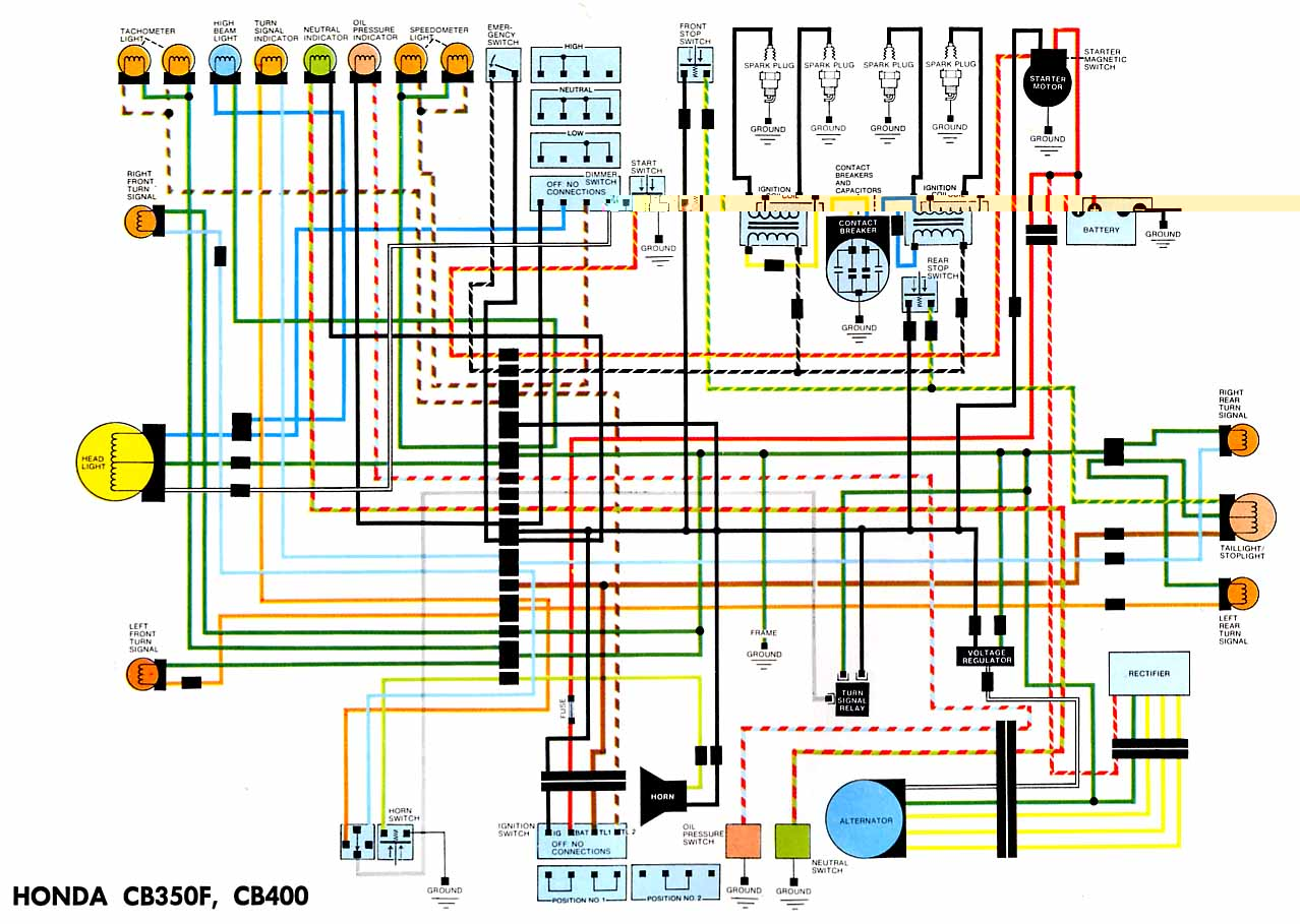 hight resolution of after banging my head on the factory wiring diagram i made this 1974 honda mt250 wiring diagram honda mt250 wiring diagram