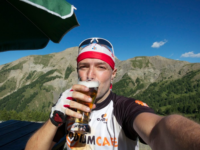 A Col d'Allos summit beer!