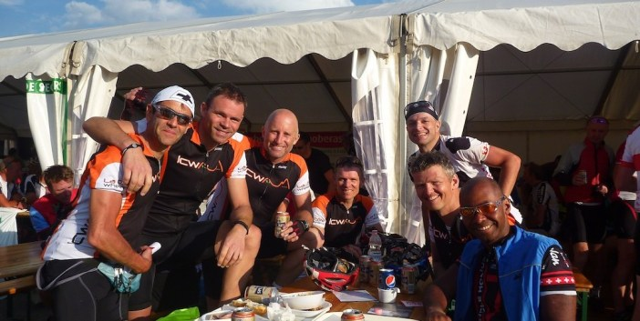 A tasty beer after La Marmotte with La Côte Wheelers