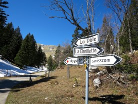 Intersection near the summit