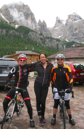Corvara with the boss and Xavier