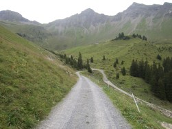 Descending unpaved dead end