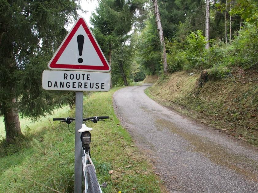 Dangerous?  Lousy road surface.