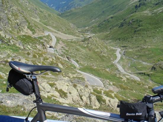 Swiss side old road