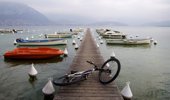 Foggy down by Lake Annecy