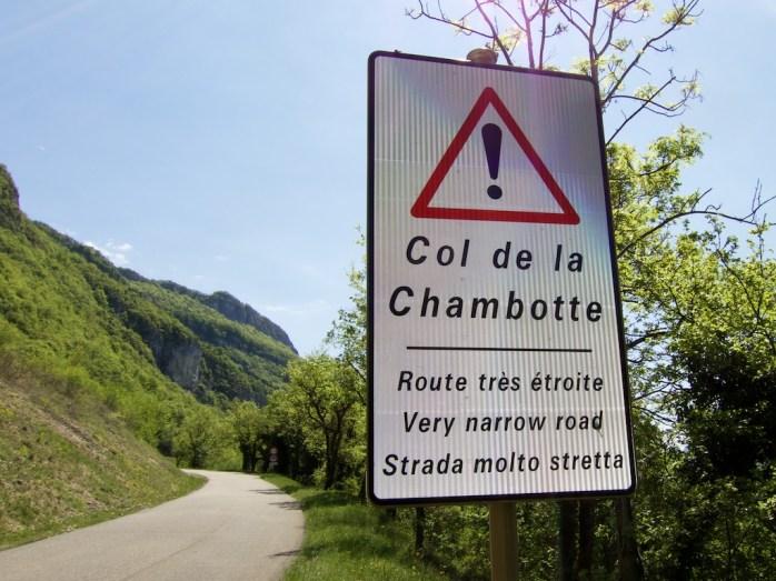 Promising sign - narrow road