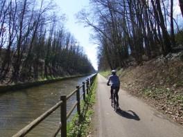 Canal bike paths