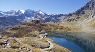 2300 metres, on way to Colle del Nivolet. Dam at left