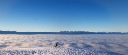 Mont Salève - Geneva below the clouds