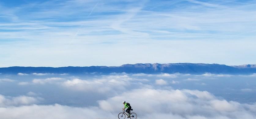 Jura mountains in distance, Geneva below/right