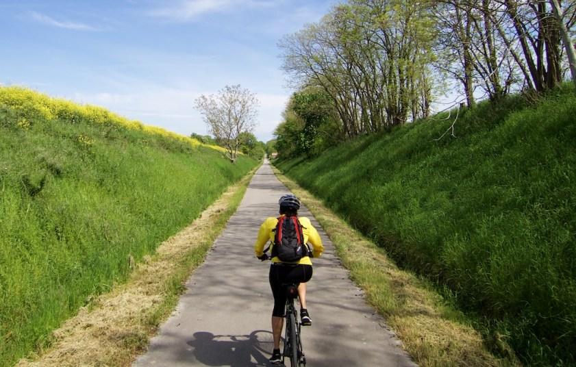 Old railway converted to Bike path