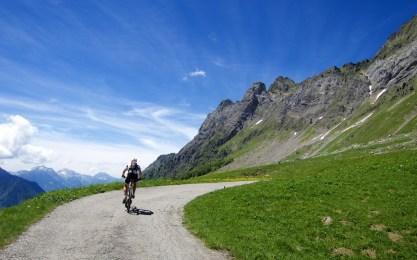 Behind the Aravis Alps